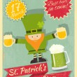 Patricks Day Retro Card — Stock Vector #37309201