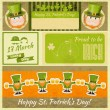 Stock Vector: Patricks Day Retro Card