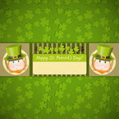 Patricks Day Retro Card — Stock Vector