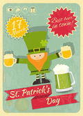 Patricks Day Retro Card — Stock Vector