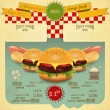 Retro Fast Food Menu — Stock Vector