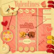 Vintage Valentines Day Card — Vector de stock #37732321