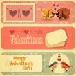 Vector de stock : Vintage Valentines Day Card