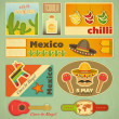Mexican Stickers — Stock Vector #38477495