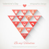 Valentines Card — Vector de stock
