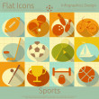 Flat Sports Icons Set — Stock Vector #38912807
