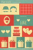 Valentines Card in Flat Style — Stock Vector