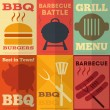 Retro BBQ posters collection — Stock Vector