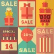 Sale Posters Collection — Stock Vector