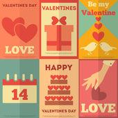 Retro valentines poster collection — Stockvektor
