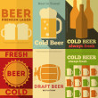 Beer Posters — Vector de stock #39154579