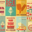 Ice Cream Posters — Stock Vector