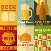 Affiches de la bière — Vecteur