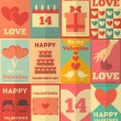 Valentines posters collection — Vettoriale Stock