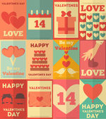 Valentines poster collection — Stockvektor