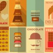 Stock Vector: Retro Chocolate posters collection