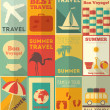 Flat Travel Posters Set — Stock Vector #39920255