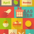 Retro Easter Labels — Stock Vector