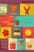 Retro Hawaii Labels collection — Vettoriale Stock