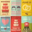 Wedding Posters Set — Stock Vector