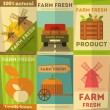 Set of Posters Farm Fresh — Stock Vector