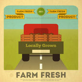 Poster for Organic Farm Food — Stock Vector