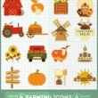 Farming Icons Set — Vector de stock