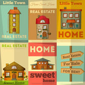 Houses — Vector de stock