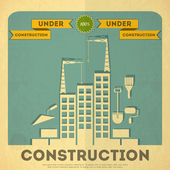 Under construction poster design — Stock Vector