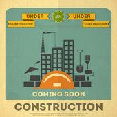 Under construction poster design — Stock Vector