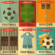 Football Posters — Stock Vector