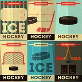 Hockey Posters — Stock Vector