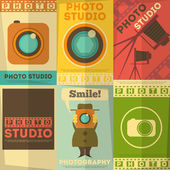 Photo Studio Poster — Stock Vector
