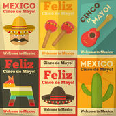 Mexican Posters — Stock Vector