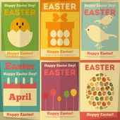 Retro Easter Posters — Stock Vector