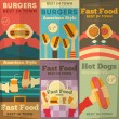 Fast food posters collection — Stock Vector #44750775
