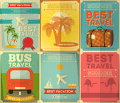 Travel Posters Set — Stock Vector