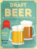 啤酒海报 — 图库矢量图片
