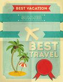 Estate viaggio poster design — Vettoriale Stock