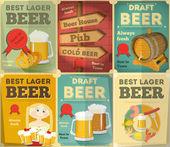 Beer Posters Set — Stock Vector