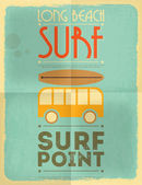 Surfing poster — Stock Vector