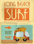 Cartel de surf — Vector de stock