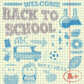 Back to School Sketch — Stock Vector