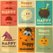 Halloween posters set — Stock Vector