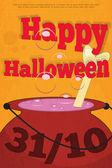 Halloween-kaart — Stockvector