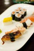 Variety style Sushi set, Japanese style food — Stock Photo