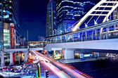 Sky bridge connection to Bangkok Rapid Transit Station, Bangkok, — Stock Photo