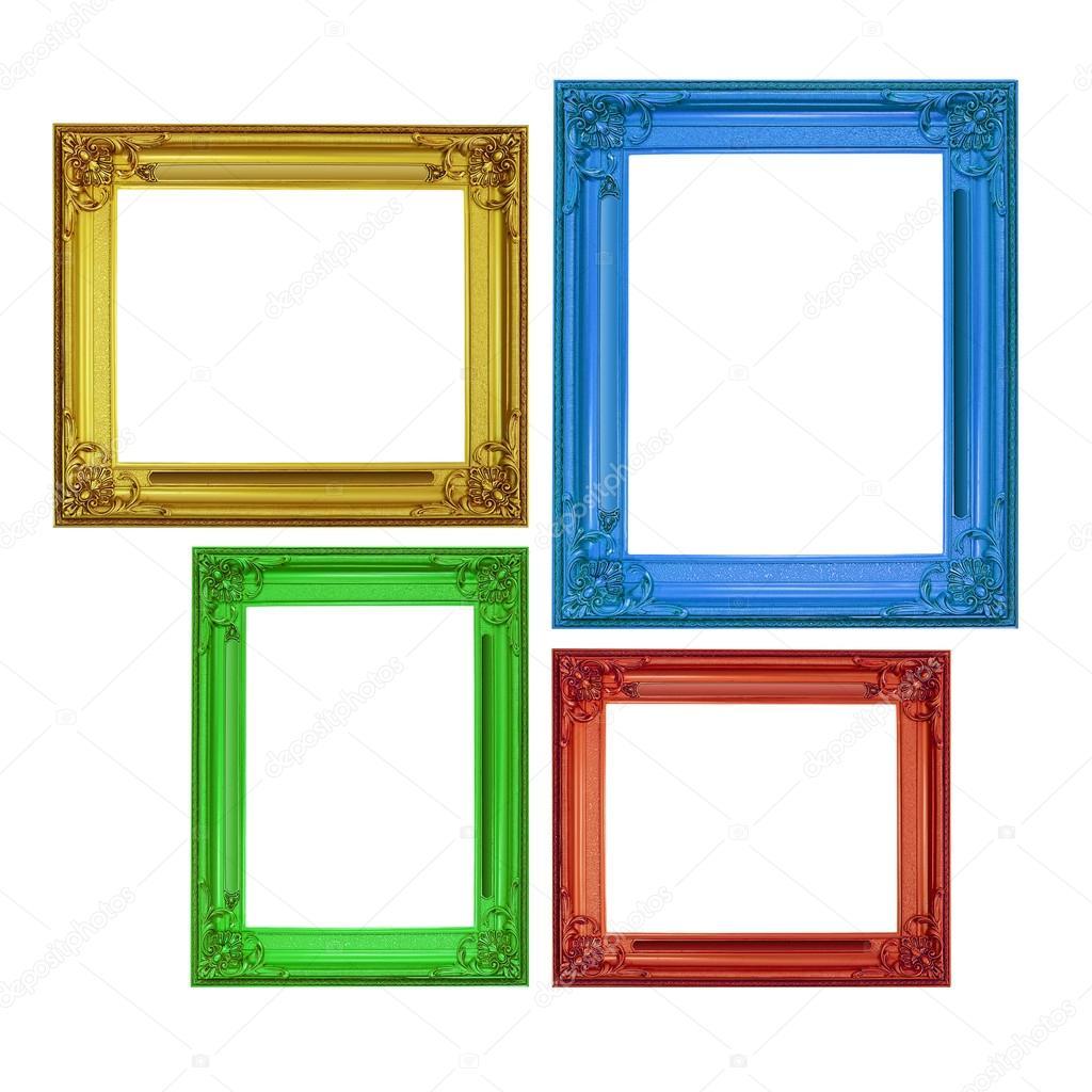 Marcos aislados en estilo cl sico en cuatro colores foto for Cuadros estilo clasico