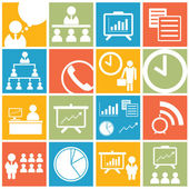 Business office icon and symbol set — Stock Photo