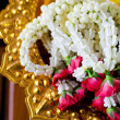 Garland of jasmine and rose flowers — Stock Photo